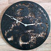"""Для дома и интерьера ручной работы. Ярмарка Мастеров - ручная работа Настенные часы """"Пейсли"""". Handmade."""