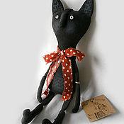 Куклы и игрушки ручной работы. Ярмарка Мастеров - ручная работа Черный кот.. Handmade.