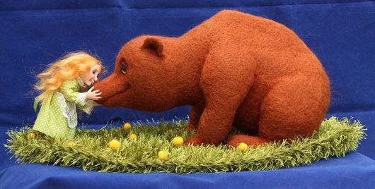 Коллекционные куклы ручной работы. Ярмарка Мастеров - ручная работа. Купить Маша и медведь - Нос к носу. Handmade. Маша и медведь