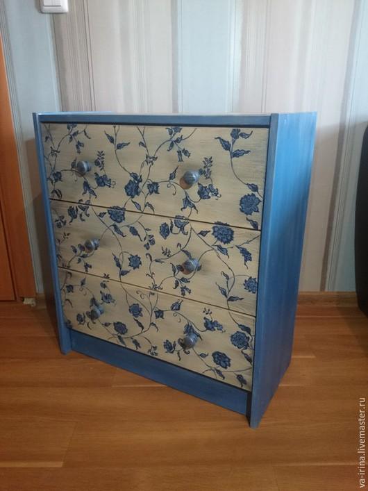 Мебель ручной работы. Ярмарка Мастеров - ручная работа. Купить Винтажный комод. Handmade. Голубой, винтаж