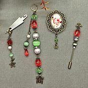 Материалы для творчества handmade. Livemaster - original item Set of embroidery accessories. Handmade.