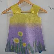 Работы для детей, ручной работы. Ярмарка Мастеров - ручная работа Платье детское Солнечный цветок валяное. Handmade.