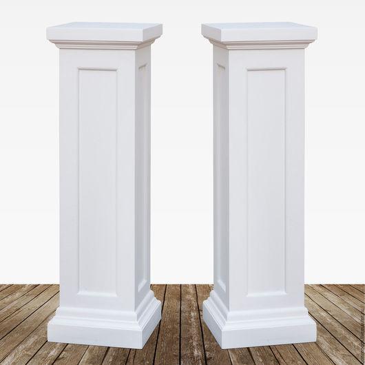 Свадебные аксессуары ручной работы. Ярмарка Мастеров - ручная работа. Купить Белоснежные деревянные колонны / подставки. Handmade. Белый