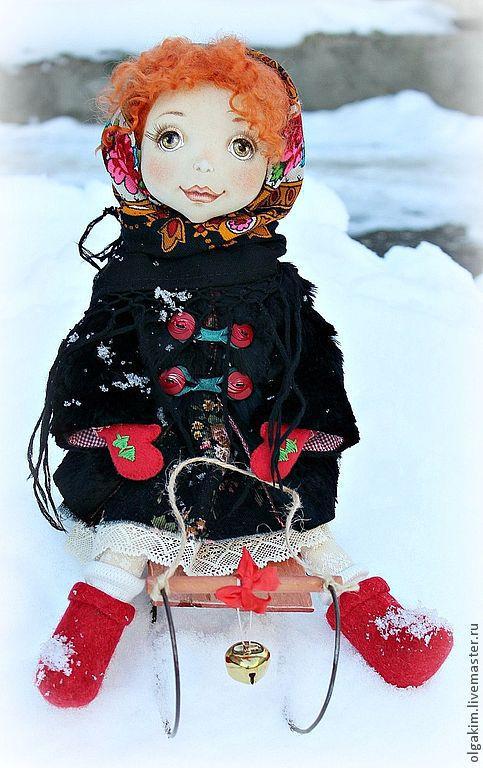 Коллекционные куклы ручной работы. Ярмарка Мастеров - ручная работа. Купить Масленичные забавы. Handmade. Масленица, хлопок 100%