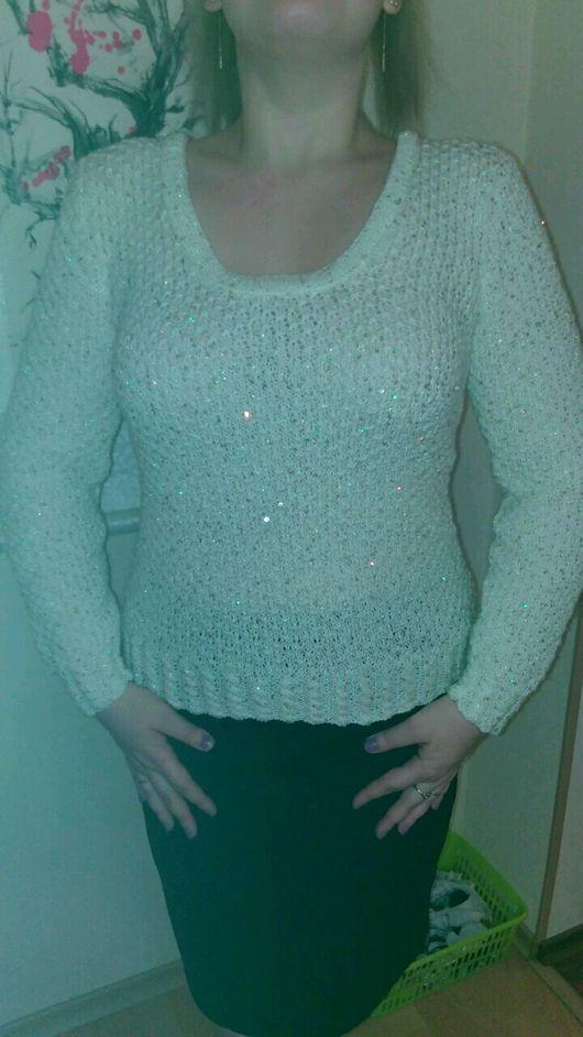 """Кофты и свитера ручной работы. Ярмарка Мастеров - ручная работа. Купить Пуловер """"Морозное утро"""". Handmade. Пуловер женский"""
