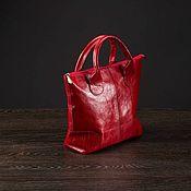 """Классическая сумка ручной работы. Ярмарка Мастеров - ручная работа Женская кожаная сумочка """"Rouse"""" красно-бордовая. Handmade."""