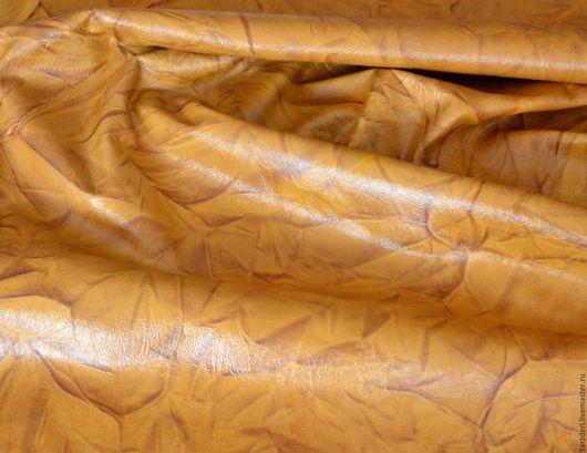Шитье ручной работы. Ярмарка Мастеров - ручная работа. Купить Натуральная кожа 0,7 мм Мраморная охра. Handmade.