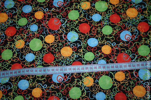 Шитье ручной работы. Ярмарка Мастеров - ручная работа. Купить 1356 Американская ткань. Handmade. Черный, ткань, ткань для шитья