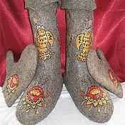 """Обувь ручной работы. Ярмарка Мастеров - ручная работа Валенки и варежки """"Хохлома"""". Handmade."""