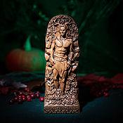 Для дома и интерьера handmade. Livemaster - original item Cernunnus, wooden figurine, Celtic god made of wood, Cernunnos. Handmade.