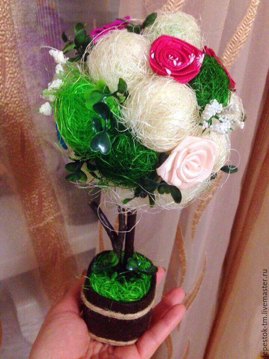 """Топиарии ручной работы. Ярмарка Мастеров - ручная работа. Купить Топиарий """"Весенний лес"""". Handmade. Зеленый, топиарий из сизаля, фетр"""