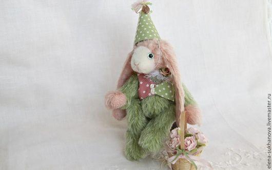 """Мишки Тедди ручной работы. Ярмарка Мастеров - ручная работа. Купить Зайчик """"Весенний"""". Handmade. Розовый, миниатюрный мишка"""