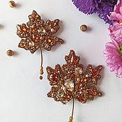 Украшения handmade. Livemaster - original item Brooch pin Maple Leaf. Handmade.