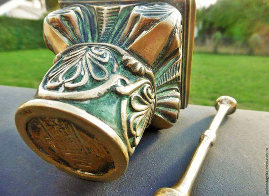 Винтажная посуда. Ярмарка Мастеров - ручная работа. Купить Антикварная ступка с пестиком Antique Max le Verrier бронза Франция. Handmade.