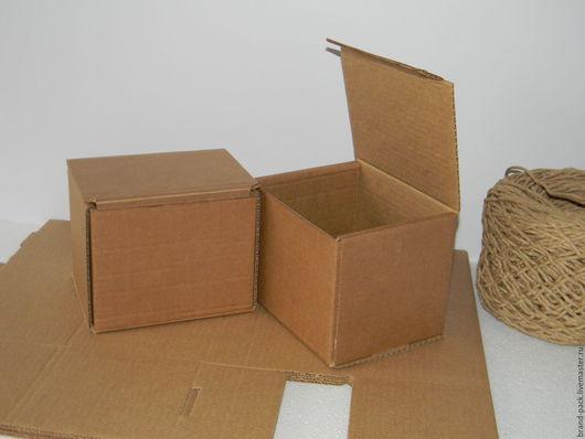 Упаковка ручной работы. Ярмарка Мастеров - ручная работа. Купить Коробка 14x12x12 см, гофрокартон. Handmade. Коробка, крафт коробка