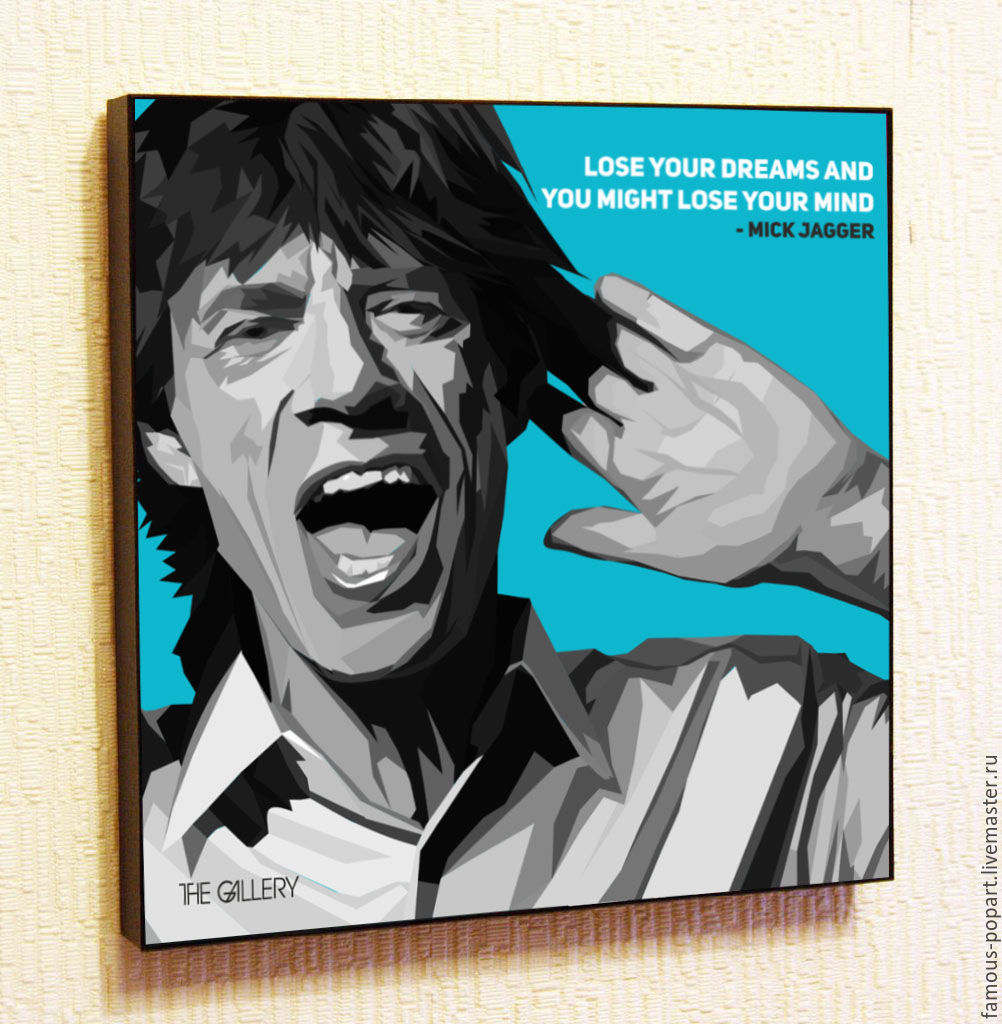Picture poster Mick Jagger Pop Art, Fine art photographs, Moscow,  Фото №1