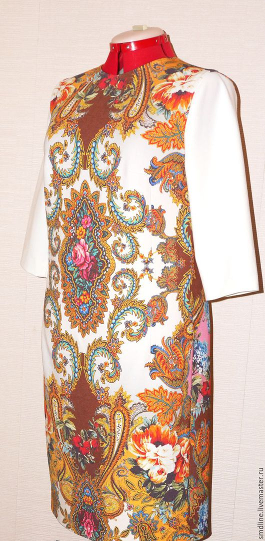 Платья ручной работы. Ярмарка Мастеров - ручная работа. Купить Платье с платочным рисунком. Handmade. Комбинированный, платочный рисунок