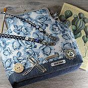 Сумки и аксессуары ручной работы. Ярмарка Мастеров - ручная работа Blue roses.. голубой цветы лето джинс сумка купить подарок. Handmade.