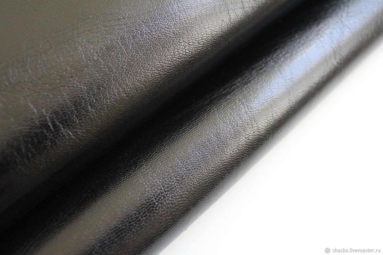 Натуральная кожа Коза Черный 1.0-1.2мм, Кожа, Санкт-Петербург, Фото №1