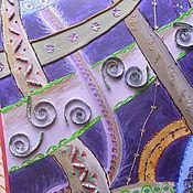 """Картины и панно ручной работы. Ярмарка Мастеров - ручная работа Панно """"Параллельные миры"""". Handmade."""