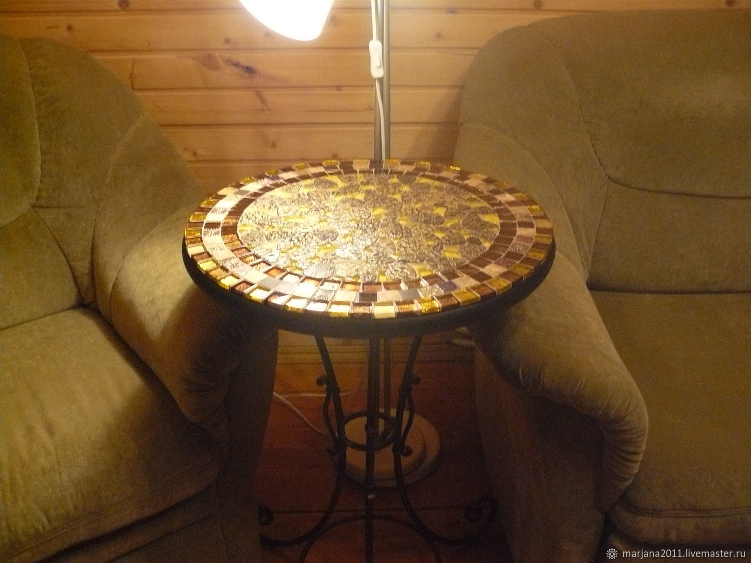 Wrought iron table with mosaic 'And on stones trees grow', Tables, Moscow,  Фото №1