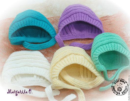 Для новорожденных, ручной работы. Ярмарка Мастеров - ручная работа. Купить Шапочки для новорожденных. Handmade. Комбинированный, шапочка для новорожденого