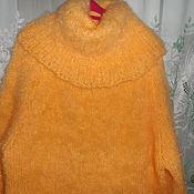 Одежда handmade. Livemaster - original item pullover with a large collar yellow. Handmade.