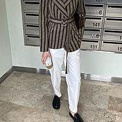 Одежда handmade. Livemaster - original item Jacket made of striped coat fabric. Handmade.