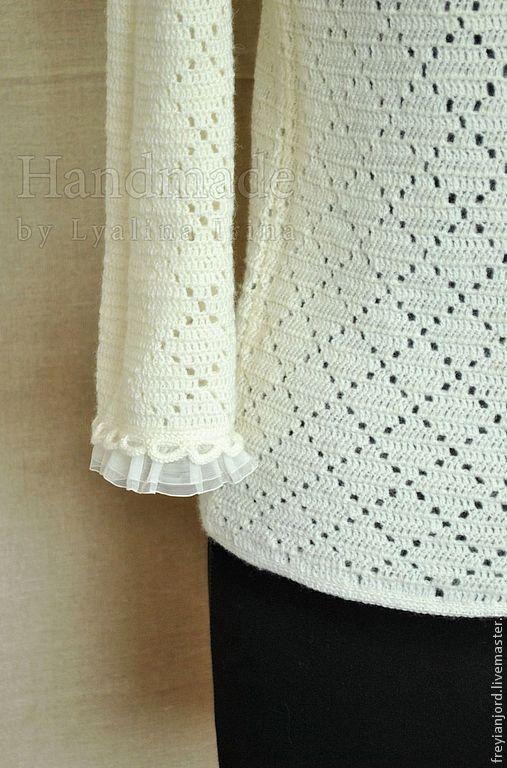 Кофты и свитера ручной работы. Ярмарка Мастеров - ручная работа. Купить Вязаная женская ажурная кофточка Spring Primroses. Handmade.
