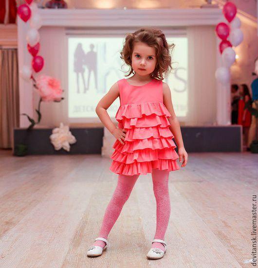 Одежда для девочек, ручной работы. Ярмарка Мастеров - ручная работа. Купить Детское платье нарядное летнее с рюшами для девочки. Handmade.