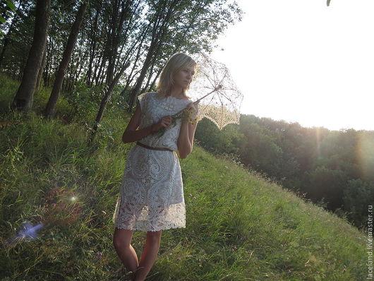 """Платья ручной работы. Ярмарка Мастеров - ручная работа. Купить Платье """"Кружевное"""". Handmade. Платье, елецкое кружево, авторское платье"""