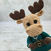Куклы и игрушки handmade. Livemaster - original item Elk crocheted. Elk photographer.. Handmade.