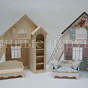 Куклы и игрушки ручной работы. Ярмарка Мастеров - ручная работа Кровать-домик для самостоятельной сборки.(заготовка для декорирования). Handmade.