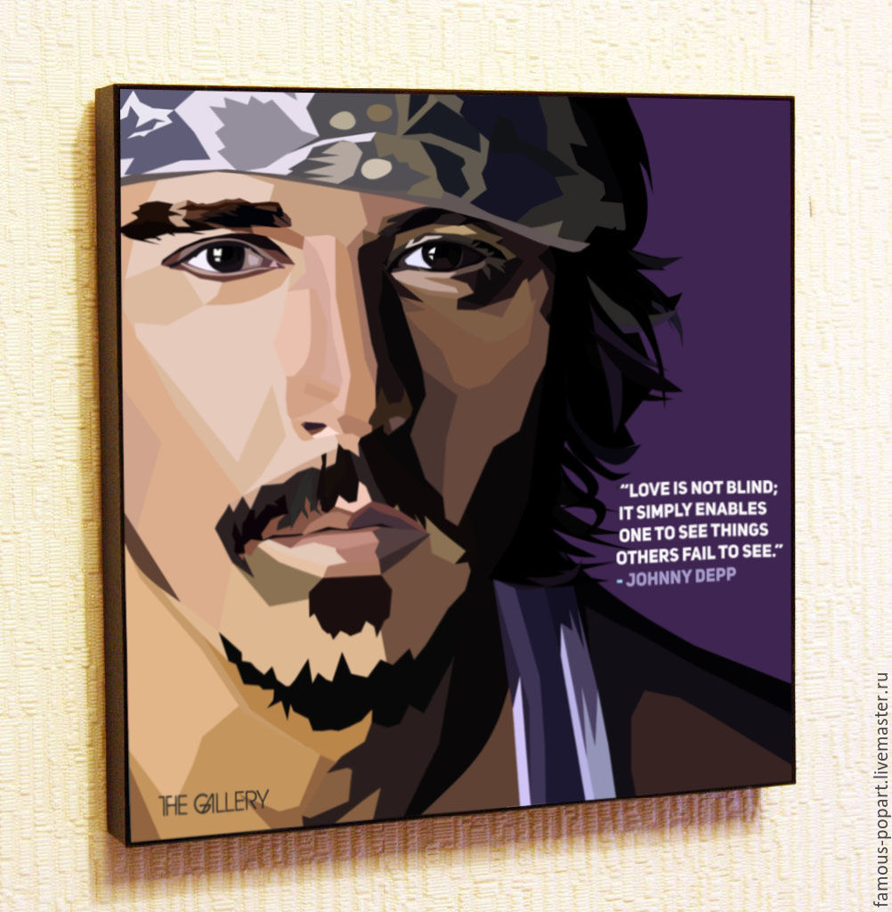 Picture poster johnny Depp Pop Art, Fine art photographs, Moscow,  Фото №1