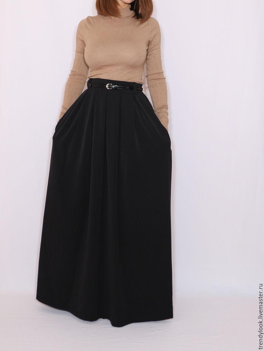 Интернет магазин длинная черная юбка