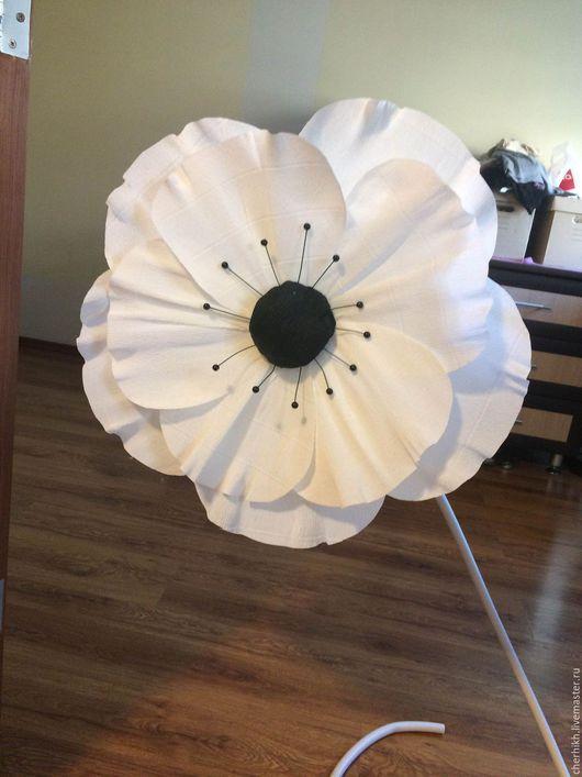 Интерьерные композиции ручной работы. Ярмарка Мастеров - ручная работа. Купить Большой цветок из бумаги. Handmade. Белый, бумажный цветок