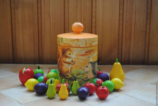 """Развивающие игрушки ручной работы. Ярмарка Мастеров - ручная работа. Купить """"Лесной боченок"""" игрушка развивалка. Handmade. Комбинированный, белочка"""