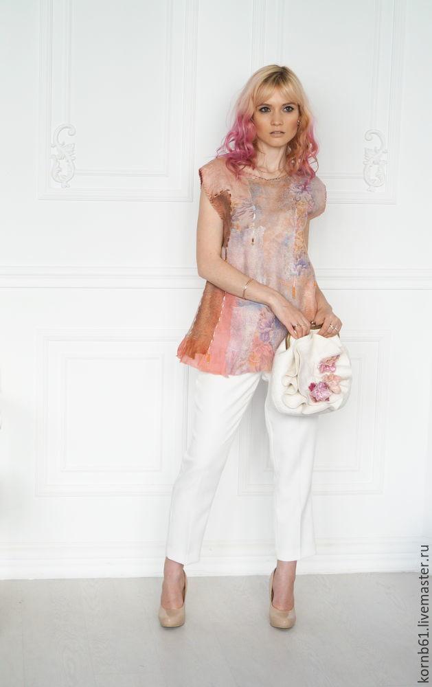 """Одежда для девочек, ручной работы. Ярмарка Мастеров - ручная работа. Купить Валяный топ """" Engagement"""" продан. Handmade. Топ"""