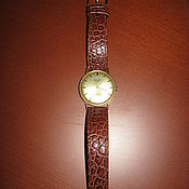 Винтаж ручной работы. Ярмарка Мастеров - ручная работа Наручные золотые швейцарские часы Oriosa 1960-е гг. Handmade.