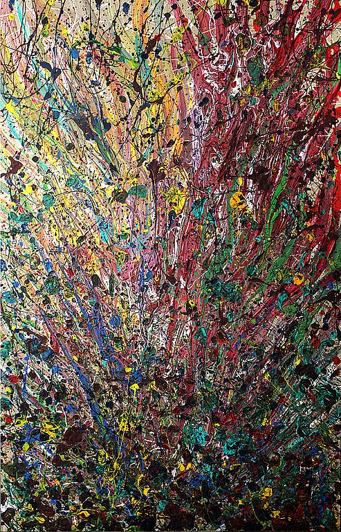 """Абстракция ручной работы. Ярмарка Мастеров - ручная работа. Купить Картина """"Всплеск"""". Handmade. Марина Берулава, яркий, акрил"""