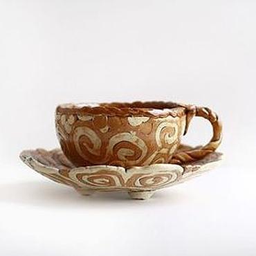 """Посуда ручной работы. Ярмарка Мастеров - ручная работа Чайная пара """"Триполье"""". Handmade."""