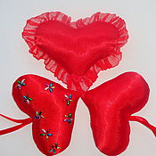 Сувениры и подарки handmade. Livemaster - original item The pads are heart-shaped gift. Handmade.