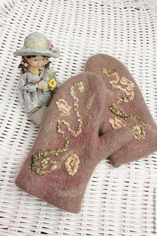 Зимние варежки, детские варежки, hand made, валяные варежки