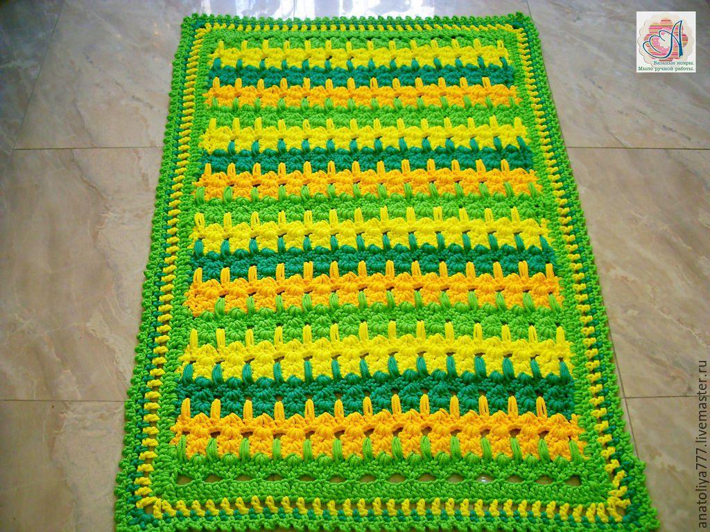 Rug multi-colored handmade cord Summer, Interior elements, Kabardinka, Фото №1