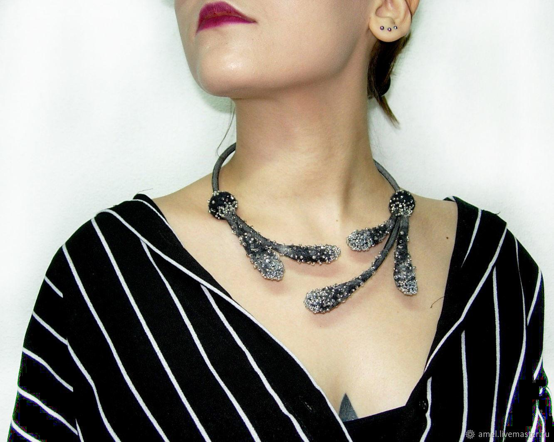 TWILIGHT felt open necklace decoration, Necklace, Izhevsk,  Фото №1