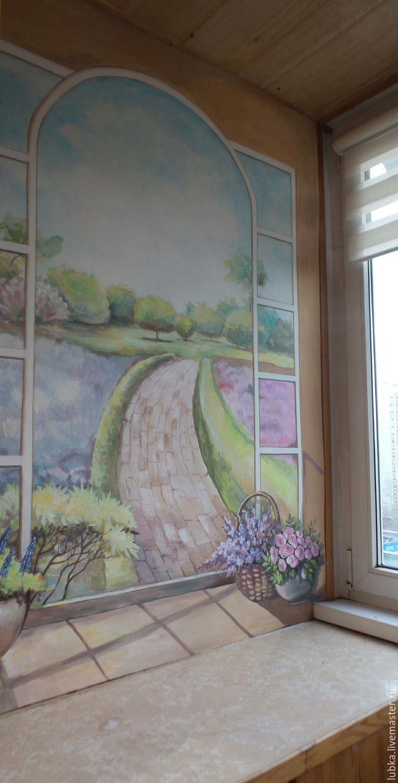 Купить роспись на балконе окно в сад в интернет магазине на .