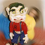 Кукольный театр ручной работы. Ярмарка Мастеров - ручная работа Бармалей.Театральная перчаточная планшетная кукла. Handmade.
