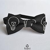 Аксессуары handmade. Livemaster - original item Tie the Bulb / butterfly tie black with pattern. Handmade.