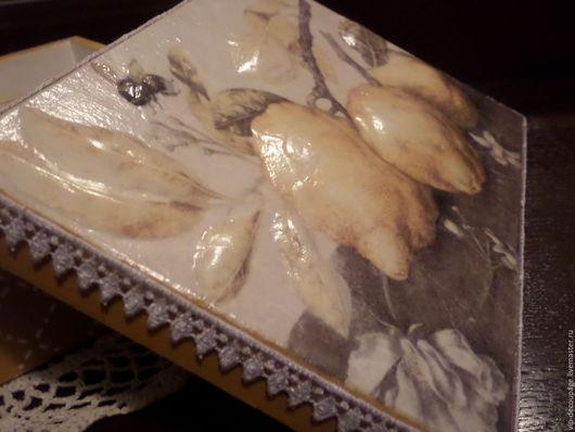 Кухня ручной работы. Ярмарка Мастеров - ручная работа. Купить Шкатулка для чая. Медовый лимончик. Handmade. Желтый, лимон