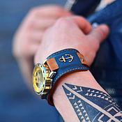 ручной работы. Ярмарка Мастеров - ручная работа Часы механические наручные Anchor на широком браслете. Handmade.